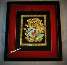 art Emboss Painting, Tanjore Painting, Peacock Art, Types Of Painting, Frame, Home Decor, Picture Frame, Decoration Home, Room Decor
