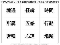リアルでもネットでも集客する際に知っておくべき切り口9つ http://yokotashurin.com/etc/customer9.html