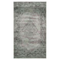 Anchor your living room seating group or define space in the den with this artfully loomed art silk rug, featuring a classic Persian-inspired motif for eye-c...