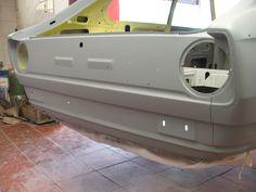 Rear panel paint base