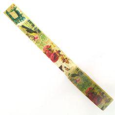 Hobbycraft Vintage Print Decorative Tape Cream/Ivory 5Mtr | Hobbycraft