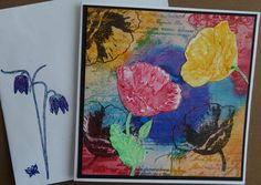 Card with Gelatos and stamps