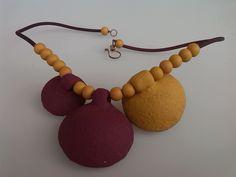 Polyclay pod necklace / backside | Flickr - Photo Sharing!
