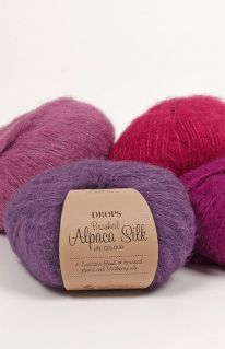 DROPS Brushed Alpaca Silk Yarn Group C. Brushed Alpaca and Mulberry Silk. Raw Supplies for Knitting and Crochet. Drops Kid Silk Yarn Group: C Content: Alpaca, Silk Yarn Group: C - 19 stitches) / 10 ply / aran / worsted Weight/yardage: oz g) = approx 153 Crochet Yarn, Knitting Yarn, Knitting Needles, Alpacas, Laine Drops, Garnstudio Drops, Drops Alpaca, Shade Card, Furoshiki