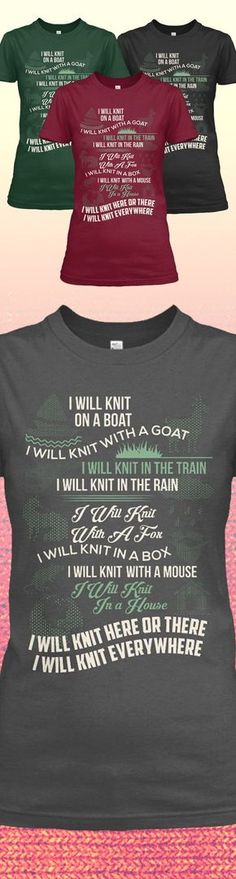 Love Knitting? Check out this awesome Knitting Shirt. Makes for a perfect gift too! Not sold in stores! Grab yours or gift it to a friend, you will both love it