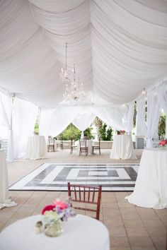 Feature dancefloor draped tent wedding #marqueewedding