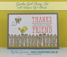 Today I have the NEW Stampin' Up!, Stampin' Blends Markers to share with you! The Stampin' Blends Markers simplify colouring and shading and are the… Great Friends, Cardmaking, Markers, Stampin Up, About Me Blog, Paper Crafts, Fun, Cards, How To Make