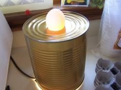 DIY egg candler - I've done this. Portable Chicken Coop, Diy Chicken Coop, Keeping Chickens, Raising Chickens, Backyard Farming, Chickens Backyard, Diy Incubator, Chicken Lady, Pet Chickens