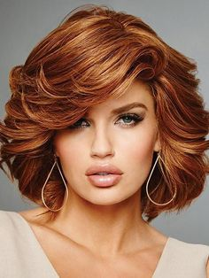 Hollywood & Divine by Raquel Welch Wigs - Remy Human Hair, Hand Tied, Lace Front, Monofilament Wig Medium Hair Styles, Curly Hair Styles, Cheveux Oranges, Raquel Welch Wigs, Monofilament Wigs, Platinum Blonde Hair, Wig Hairstyles, Brown Hairstyles, Pretty Hairstyles
