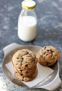 Soft, Chewy and Thick Chocolate Chip Cookies