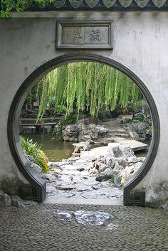 MOON GATE, YU YUAN, SHANGHAI by Peter Albrecht, via Flickr