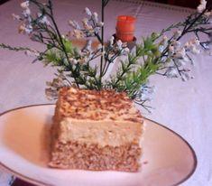 Orechovo-karamelové rezy s gaštanovou plnkou