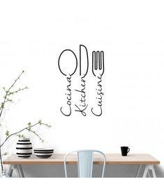 34 veces he visto estas espléndidas cocinas ideas. Kitchen Wall Quotes, Kitchen Wall Decals, Bedroom Decor Pictures, Colourful Living Room, Sweet Home, Wall Decor, Interior, Logo Restaurant, Home Decor