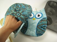 Owl Pot holders for the Kitchen.