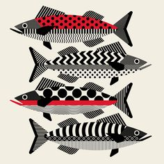 FAÜNA California-based design studio TRÜF Creative shares their ongoing illustration project where they explore minimalistic interpretations of the animal kingdom. Free Illustration, Art Et Design, Graphic Design, Vector Design, Trash Polka Tattoo, Colossal Art, Communication Art, Art And Technology, Fish Art
