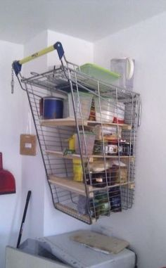 Shake up your office's Shelving with a modified shopping cart!