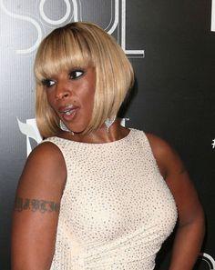 Mary J. Blige rocks an angled bob