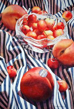 Peaches and Queen Anne Cherries