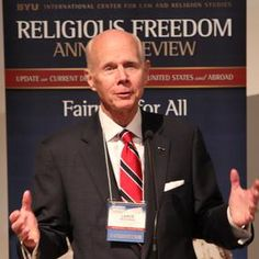 """""""Every person—including people of faith and their religious communities—should have enough space to live according to their core beliefs,"""" said Elder Wickman at a religious freedom conference at BYU, July 7."""