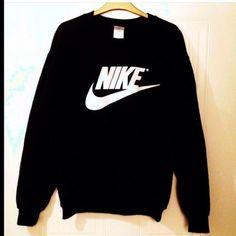 sweater nike nike sweater black sweater