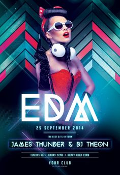 EDM Flyer by styleWish (Download PSD file)