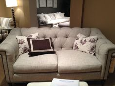 Sherrill DC50 sofa. I love this frame! Shown with one extra throw pillow.