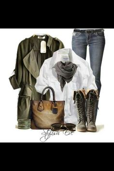 love this outfit Mode Chic, Mode Style, Style Me, Chic Outfits, Fashion Outfits, Womens Fashion, Fall Winter Outfits, Winter Fashion, Casual Winter