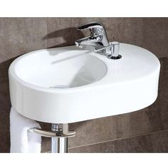 Brienza Cloakroom Basin, priced at The Brienza oval cloakroom basin wi. Brienza Cloakroom Basin, priced at The Brienza oval cloakroom basin with integral soap di Cloakroom Sink, Small Bathroom Sinks, Small Sink, Cloakroom Ideas, Bathroom Stuff, Bathroom Ideas, Small Downstairs Toilet, Toilet Room Decor, Wc Design
