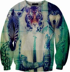 Animal Men Crewneck Sweater Sweatshirt – YeahWhateverz
