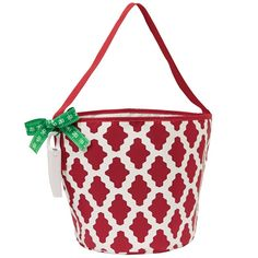 Monogram with VT  Burgundy Dot Game Day Tailgate Bucket