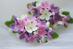 Flower barrette. Flower hair clip. Hair flower. Floral by DecorUA
