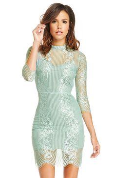 For Love & Lemons Rosette Lace Dress at DAILYLOOK.com