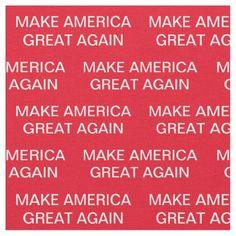 Make America Great Again Donald Trump 2020 Fabric