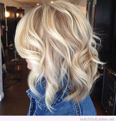Platinum blonde hair color and curls