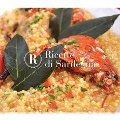 """""""Mi piace"""": 156, commenti: 1 - Ricette di Sardegna (@ricettedisardegna) su Instagram: """"Il gusto delicato dell'aragosta viene raccolto dalla fregula che ne esalta il sapore.  …"""""""