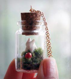 Bunny Terrarium Necklace