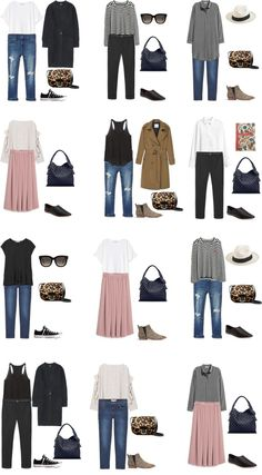 Packing List: 3 weeks in Central Europe in Spring - Outfit Options 1. livelovesara