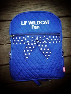 """UK Wildcats, Royal Blue Backpack - Diaper Bag/Purse - """"Lil WILDCAT Fan"""" gift on Etsy, $29.99"""