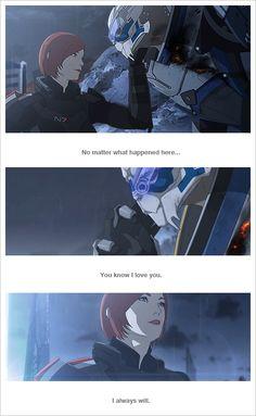 Mass Effect - Garrus - FemShepard - Shakarian - I will always love you.