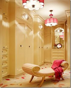 I want a big closet! loe these lights and bet you could make them yourself:)