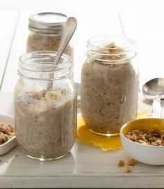 Banana-Nut Oatmeal #breakfast #healthy