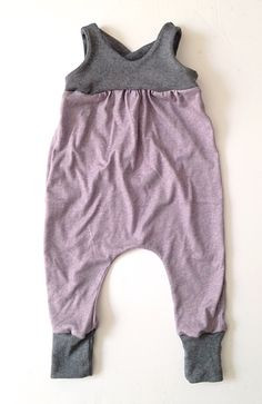 Metallic purple and gray  toddler romper
