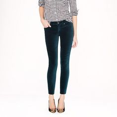 J.Crew - Toothpick jean in velvet....25% off any order at jcrew.com for 48 hours with code SECRET.
