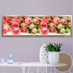 170X50CM 5D Round Diamond Painting Flowers Pictures for Diamond embroidery Diy Diamond Mosaic Flowers //Price: $44.10 & FREE Shipping //     #crafts #sewing