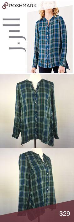 Selling this J.Jill Plaid Dipped-Hem Shirt on Poshmark! My username is: dcgirl04. #shopmycloset #poshmark #fashion #shopping #style #forsale #J. Jill #Tops