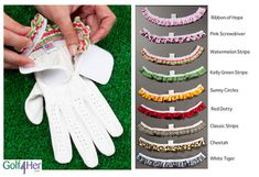 Mix and match gloves to accompany every golf outfit in your closet.