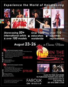 Farouk Cancun Conference 2013, August 23-26 in Cancun Mexico! via ProHairTools.com