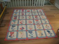 Traditional Sunbonnet Sue Quilt.  LOVE HER in all her forms!