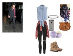 """Night out W/ Harry"" by fashin10 ❤ liked on Polyvore featuring Topshop, R13, Warehouse and Eos"