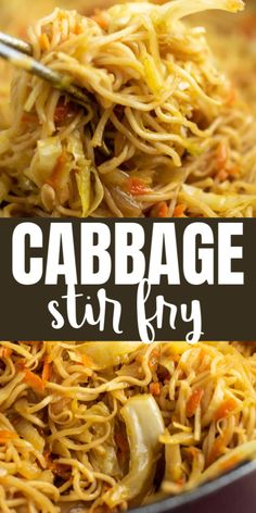 Easy Vegetable Stir Fry, Vegetable Recipes, Vegetarian Recipes, Cabbage And Noodles, Chicken And Cabbage, Green Cabbage, Veggie Dishes, Pasta Dishes, Stir Fried Cabbage Recipes